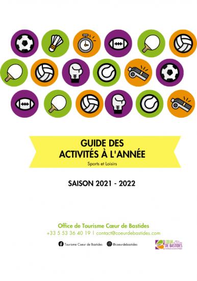 Programme des activités à l'année